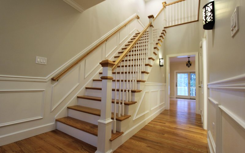 modular home staircase