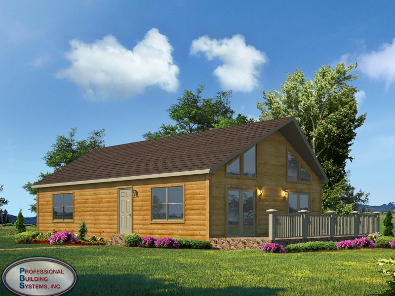 log built modular home