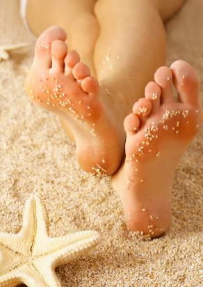 Feet on the sand at Virginia Beach VA